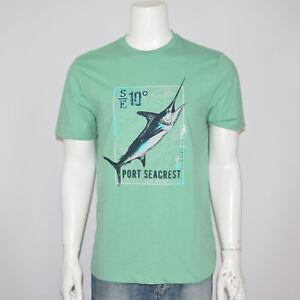 NWT-G-H-BASS-Fishing-Graphic-Logo-Cotton-Green-Tee-T-Shirt-Sz-M