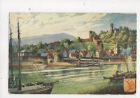 Hirschhorn Schloss 1909 Postcard Germany 072b