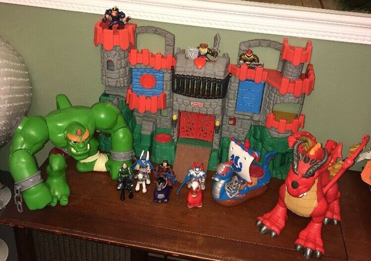 Fisher Price Imaginext Great Adventures Castle Ogre Dragon Ship Fold & Carry