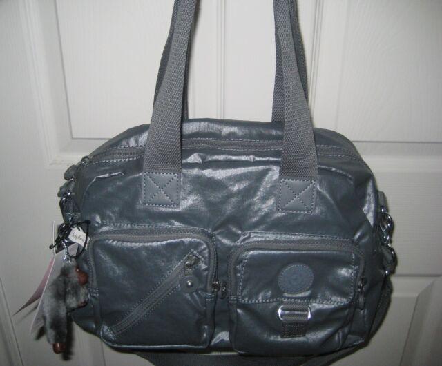 Nwt Kipling Hb6723 Defea Satchel Handbag 100 Authentic Steel Grey 058 109
