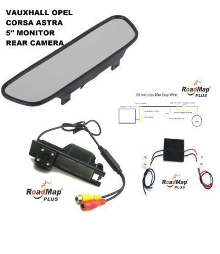 vauxhall Corsa Astra insignia Vectra meriva Rear Reversing camera 5 inch monitor