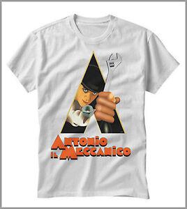 T-SHIRT-UOMO-DONNA-ANTONIO-IL-MECCANICO-FILM-ARANCIA-MECCANICA-GEN0359