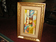 Stunning L Duchamp Miniature Cubist Oil Painting On Board-Signed-Abstract-Marcel