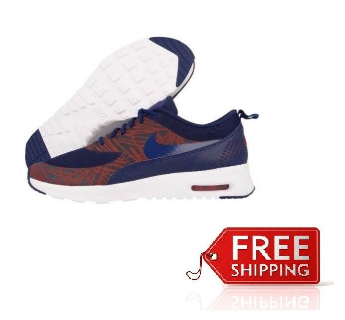 Damenschuhe Nike Max Air Max Nike Thea Print Trainer 599408402 UK Größe: 3 Navy/ROT/Weiß (23) 0c8952