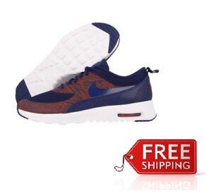 Negligencia médica Asociación arcilla  Womens Nike Air Max Thea Print Trainer 599408402 UK Size: 3 Navy/Red/White  (23) | eBay