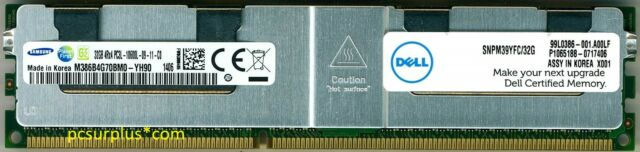 DELL Certified 32GB 4Rx4 PC3L-10600L ECC Server Memory Module SNPM39YFC/32G
