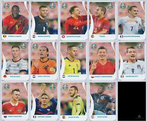 Panini EURO 2020 Pearl Edition Coca Cola Sticker Set C1-C14 (Cola Etiketten)