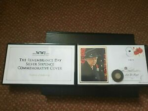 WW1 Centenary Remembrance Day Silver Six Pence Commemorative Cover