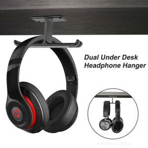 Universal-Headphone-Stand-Under-Desk-Dual-Headset-Holder-Mount-Under-Desk-n