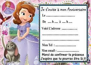 5 cartes invitation anniversaire princesse sofia 02 d 39 autres articles en vente ebay. Black Bedroom Furniture Sets. Home Design Ideas