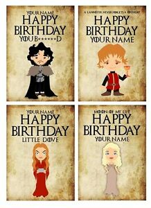 PERSONALISED GAME OF THRONES INSPIRED BIRTHDAY CARD 4 DESIGNS eBay