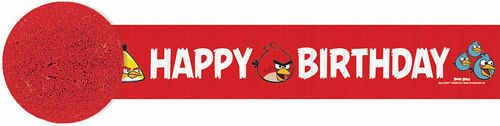 ANGRY BIRDS CREPE PAPER STREAMER ~ Birthday Party Supplies Decorations Red Game