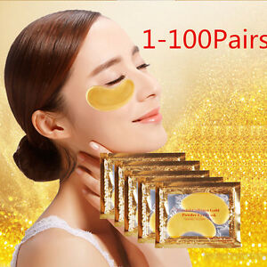 100Pairs-Crystal-Collagen-GOLD-Anti-Wrinkle-Anti-Ageing-Under-Eye-Gel-Patch-Mask