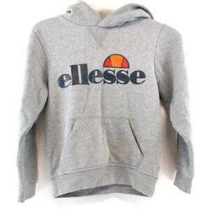 ELLESSE-Boys-Hoodie-Jumper-8-9-Years-Grey-Cotton-amp-Polyester