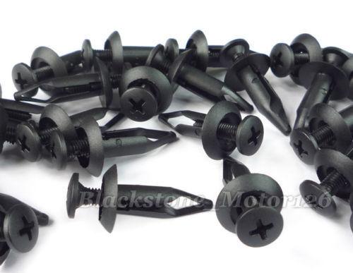 100 Screw Type Clip Mud Retainer Rivet For Chrysler For Ford F-150 F250 Explorer