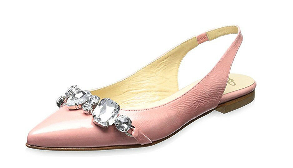 per il commercio all'ingrosso Butter Donna  Crystal Jeweled Genuine Genuine Genuine Leather Slingback Flats, rosa, 7 M US  molto popolare