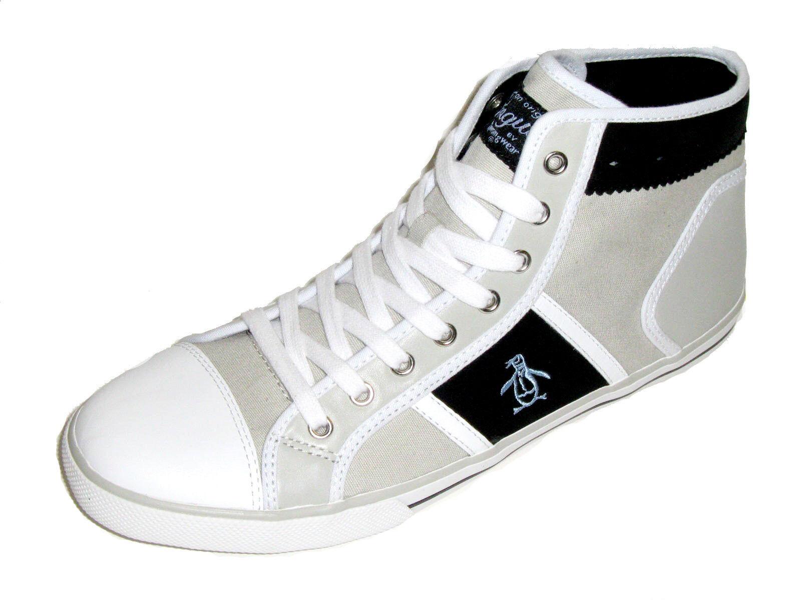 Original Penguin - Full Court Hi Top Men's shoes - Grey & Black Size 9 New
