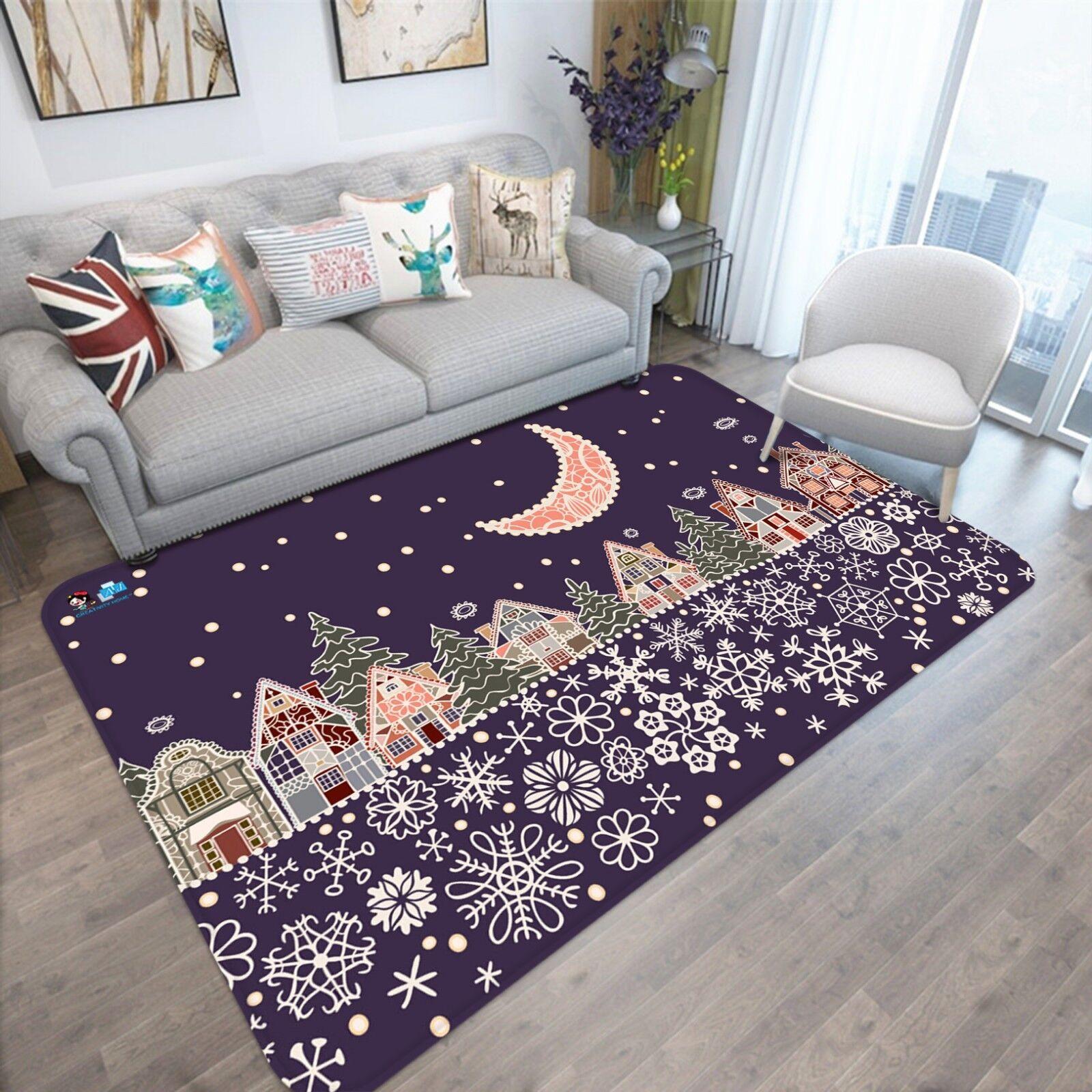 3d Natale Xmas 843 antiscivolo tappeto tappetino bagagliaio tappeto elegante de