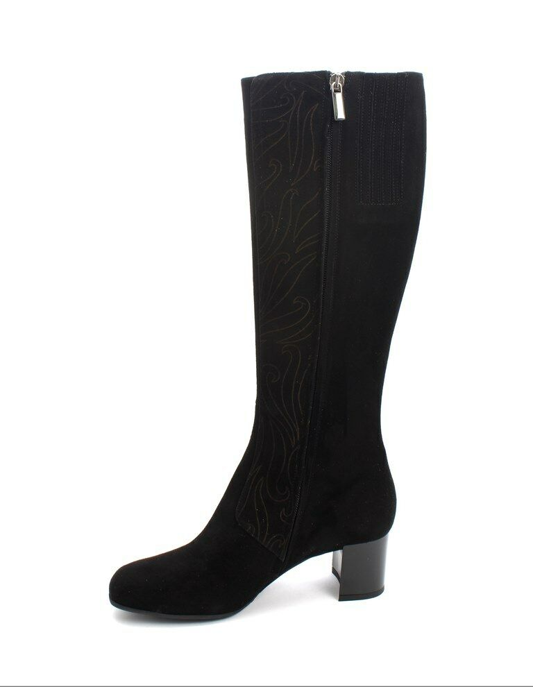 Gibellieri 3386r Black Suede Suede Suede Knee High Dress Boots 39   US 9 ff860f
