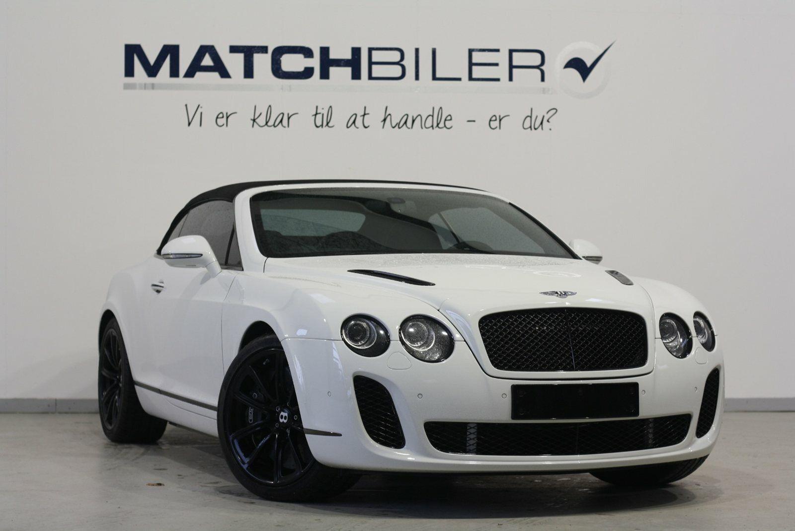Bentley Continental Supersports 6,0 Convertible aut. 2d