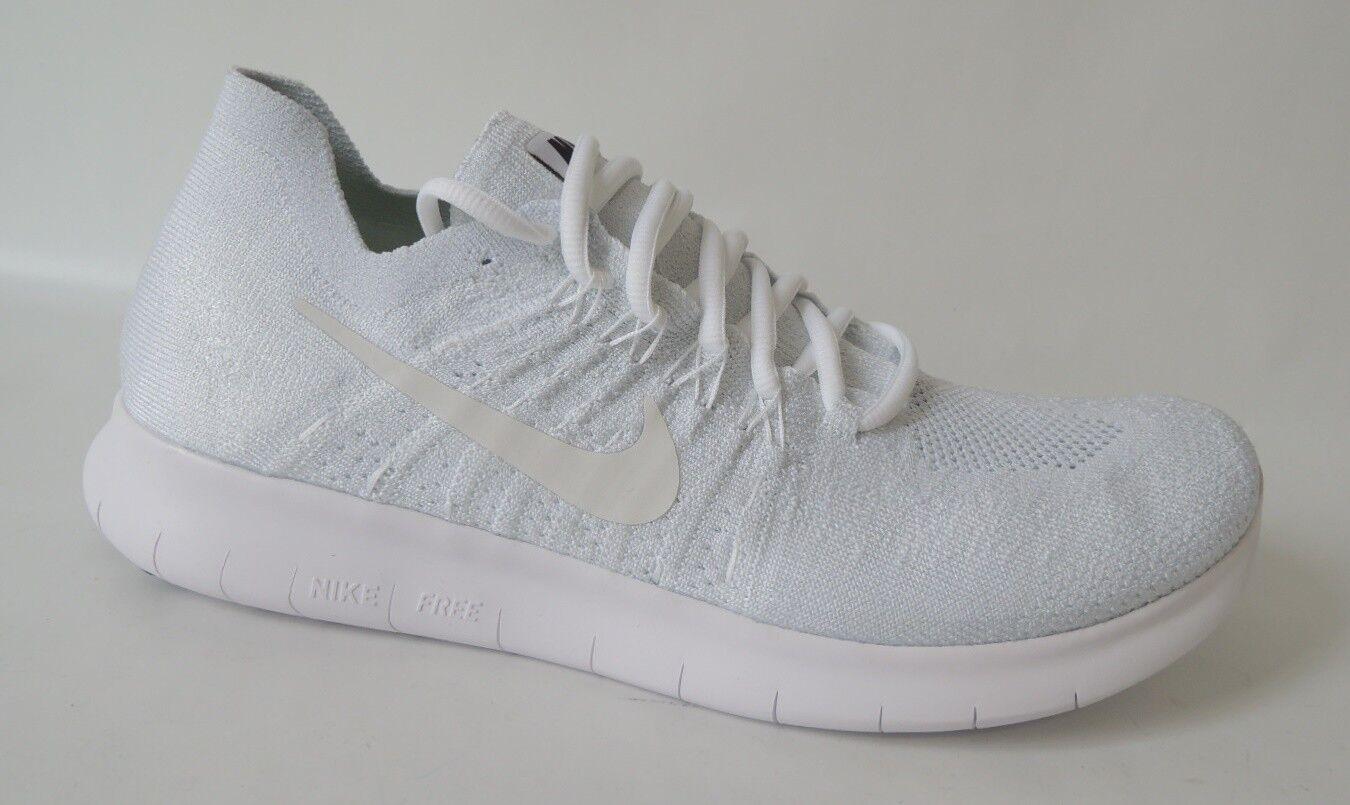 NEU Nike Free RN Flyknit 2017 Running Schuhe 42,5 Sneaker Laufschuhe 880843 weiß