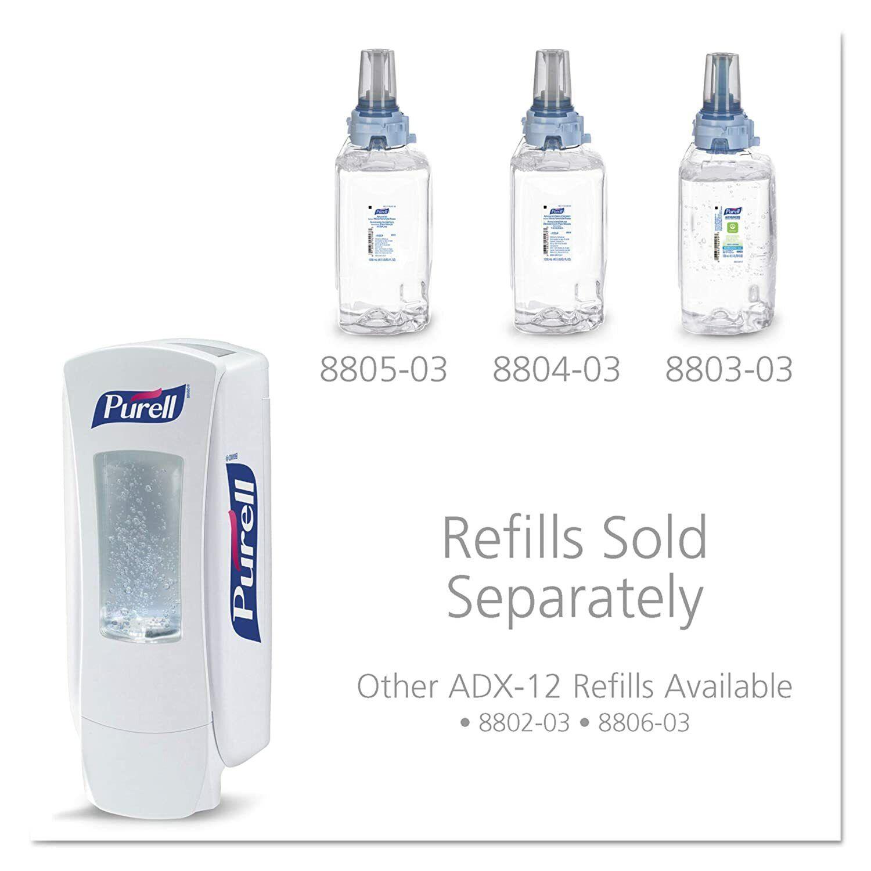 Name Brand Pure—ADX 12 Push Style Hand Dispenser Graphite/silver Color New