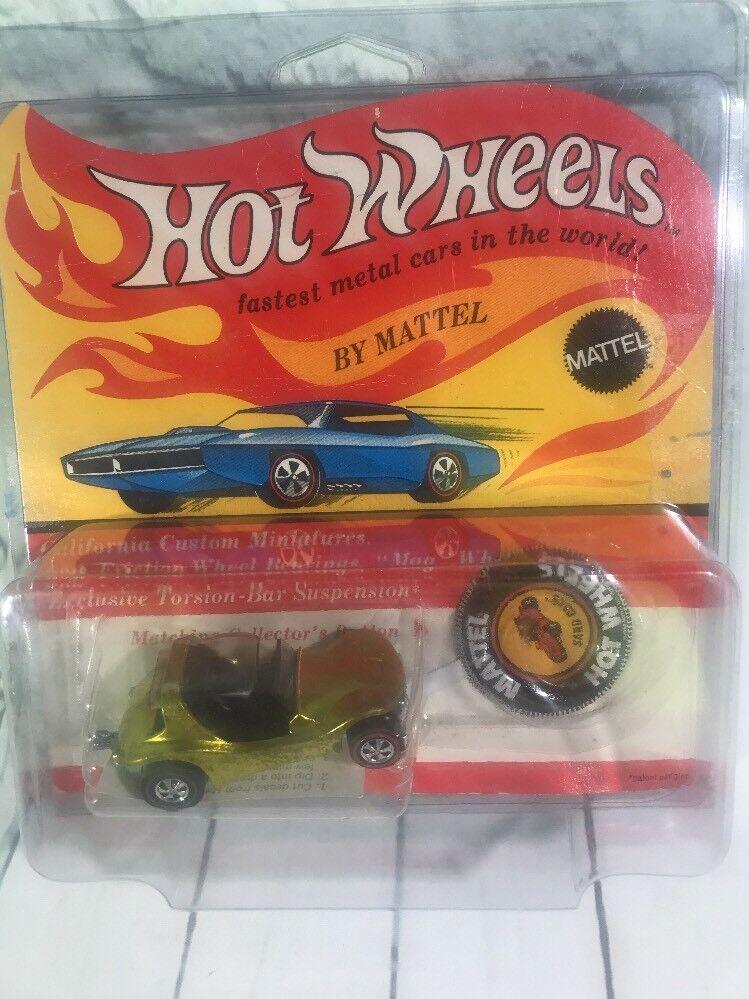 auténtico Vintage Hot Wheels rojoline Arena Cangrejo en amarillo nuevo nuevo nuevo en tarjeta sellada ENLOMADOR  entrega rápida