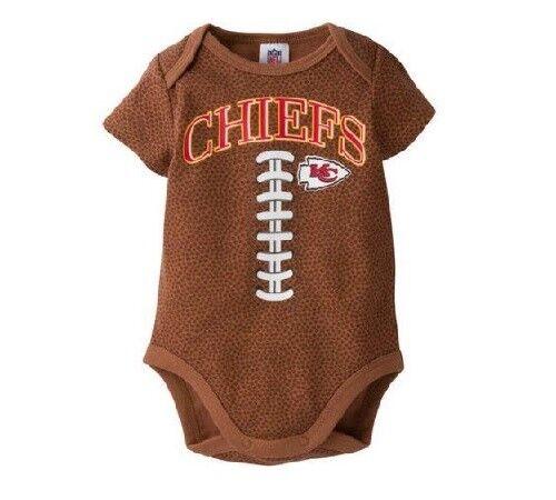 Gerber Baby Boys NFL Kansas City Chiefs Football Print Onesie; BABY CLOTHES GIFT