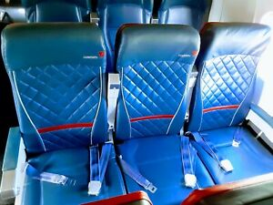 DELTA-MD90-Jetliner-Aircraft-Airplane-Seats-Leather-TRIPLE
