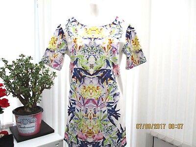 """""""fashion Union"""" Ladies Sz 10 Multi Floreale Abito Estivo B.n.w.t.-mostra Il Titolo Originale"""