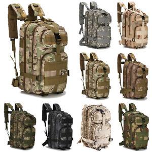 Military Tactical Army Backpack Rucksack Camping Hiking Trekking Outdoor Bag