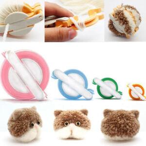 4-Size-Pom-pom-Maker-set-Fluff-Ball-Weaver-Needle-Knitting-Craft-bobble-UK