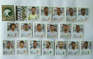 Panini-coupe-du-monde-2018-l-039-Arabie-Saoudite-Arabia-equipe-COMPLETE-SET-WORLD-CUP-WC-18