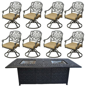 Fire-pit-dining-table-Cast-Aluminum-Propane-Double-Burner-9-Piece-Outdoor-Set