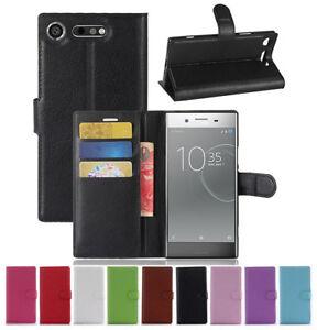 Pour-Sony-Xperia-XZ1-Xz-Xzs-Luxe-Magnetique-Clapet-Support-en-Cuir-Etui-Housse
