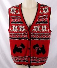 9ffbdfd7746d6d item 5 Ugly Christmas Womens Sweater Vest Sz Small Scottish Terrier Dog  Snowflake CB21F -Ugly Christmas Womens Sweater Vest Sz Small Scottish  Terrier Dog ...