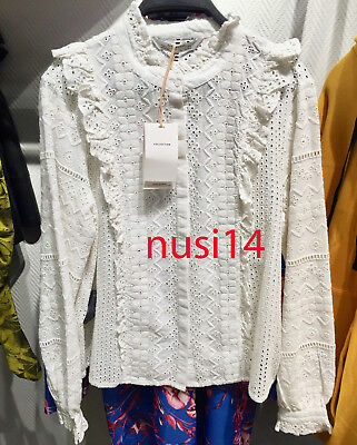 e8745cb31ff1df Details about ZARA NEW WOMAN EMBROIDERED SHIRT WHITE RUFFLED TOP BLOUSE  XS-XL REF. 5598/043