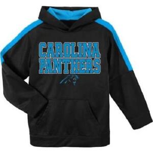 purchase cheap 2e847 eef2d Details about NFL Carolina Panthers Youth Boys Hooded Fleece Sweatshirt