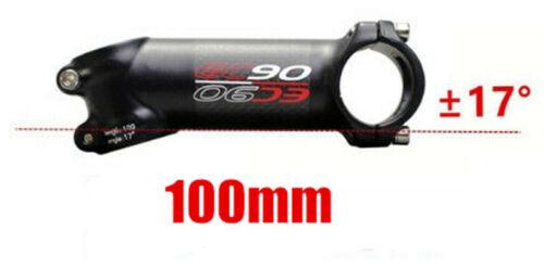 EC90 Bicycle Stem Carbon Fibre MTB Road Bike Riser Stem 28.6-31.8mm 6//17 Degree