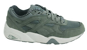 Puma Trinomic R698 Citi Series Lace Up Mens Leather Khaki Trainers ... 353be8221aba