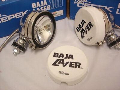 """Dick Cepek 100W Baja 5"""" Stainless Steel Off Road Lights NEW 1 Pair"""