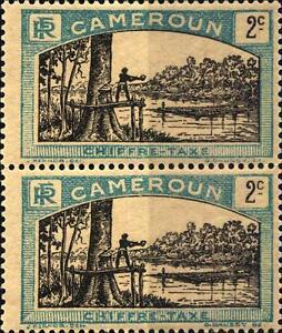 CAMEROUN-CAMERUN-1925-1927-Segnatasse-uomo-abbatte-un-albero