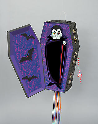 3D VAMPIRE COFFIN PINATA PULL STRING  POP OUT HALLOWEEN PARTY GAME / DECORATION