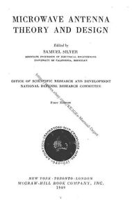 Details about Microwave Antenna: Theory and Design 1949 * PDF * CDROM