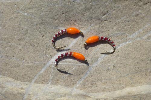 TROUT EPOXY BUZZER orange # 10 Regenbogen-Bach-Forelle Saibling Trout Char 4 St