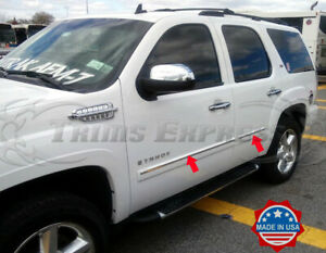 """2007-2009 Chevy Tahoe 4Pc Chrome Body Side Molding Trim Overlay Top 1"""" 4Pc"""