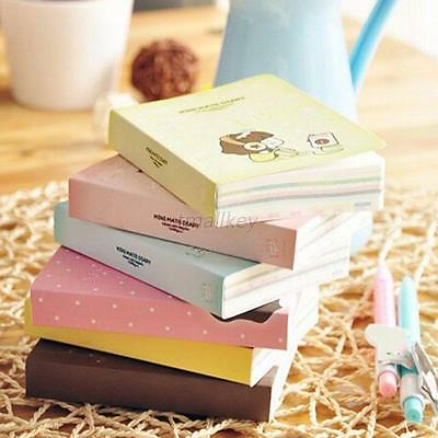 Lovely Cute Sketchbook Pocket Diary Study Planner Notepad Journal Notebook T64