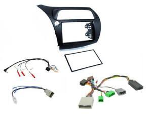 CTKHD01L-Honda-Civic-06-11-Double-Din-Car-Stereo-Fitting-Kit-stalk-control-LHD