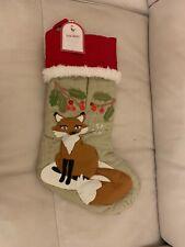 Pottery Barn Kids Holiday Woodland Stocking Christmas Fox For Sale Online Ebay