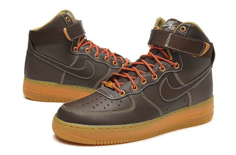 Nike Air Force 1 High Baroque Brown/Sail/Metallic Bronze/Baroque Brown sz. 9.5